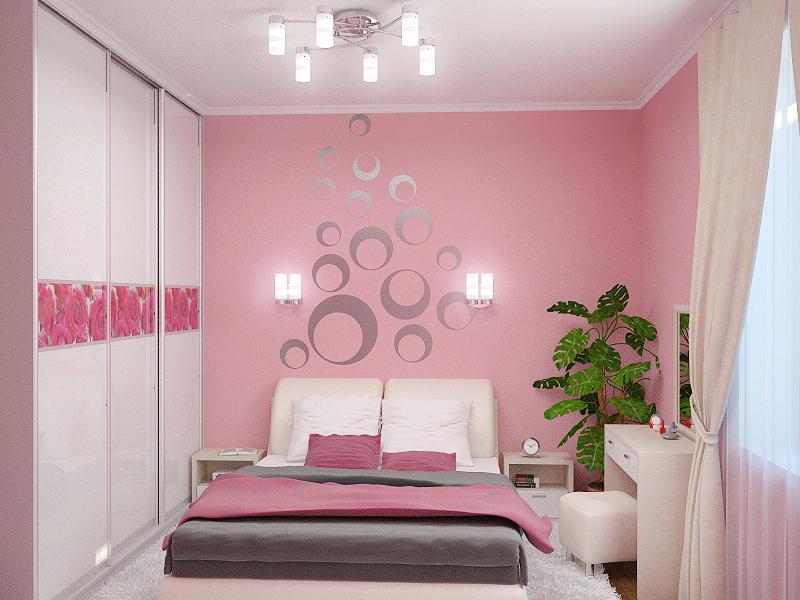 Спальни фото в розовом цвете