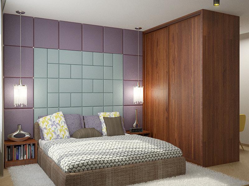 мягкие панели на стене в спальне
